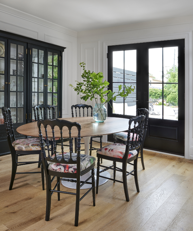 Black French Patio Doors - Dining Room